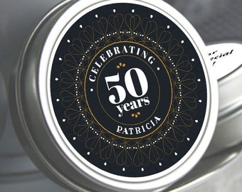 130 - 50th Birthday Mint Tin Favors - 50th Birthday Favors - 50th Birthday Ideas - 50th Birthday Mints - 50th Birthday - Birthday Favors