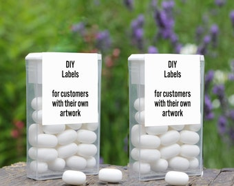 Labels for Tic Tac Containers - DIY Artwork for Tic Tac Artwork that you want printed for you