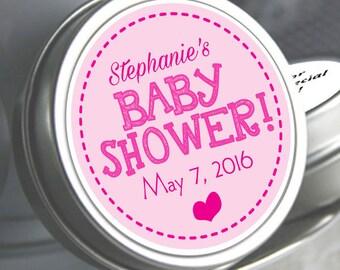 Baby Shower Heart Mint Tin Favors | Baby Shower Candy |Baby Shower Favors | Baby Shower Decor | Pink Baby Shower