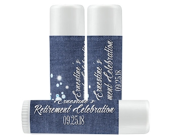 Lip Balm Labels - Personalized Lip Balm Labels - Retirement Lip Balm labels - 1 Sheet of 12 Lip Balm Labels - Custom Lip Balm Labels