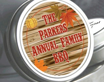 """12 Family Reunion Mint Tins - Fall Harvest BBQ - Select the quantity you need below in the """"Pricing & Quantity"""" option tab"""