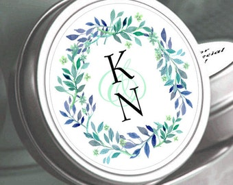 "12  Personalized Monogram Chalkboard Mint Tins - Select the quantity you need below in the ""Pricing & Quantity"" option tab"