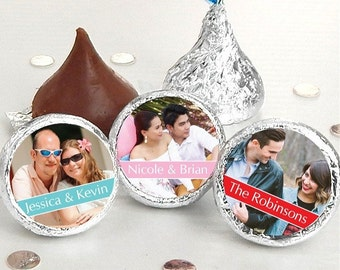 108 Photo Hershey Kiss® Stickers - Hershey Kiss Stickers Wedding - Personalized Hershey Kiss Labels - Photo Hershey Kiss Seals