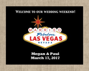 Married in Las Vegas Welcome Box Labels -  Married in Las Vegas Stickers  - Hotel Guest Thank You Labels - Multiple Sizes Available