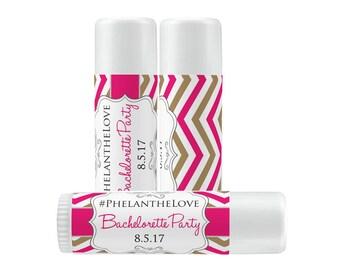 Lip Balm Labels - Personalized Lip Balm Labels - Bachelorette Lip Bottles labels - 1 Sheet of 12 Lip Balm Labels - Custom Lip Balm Labels