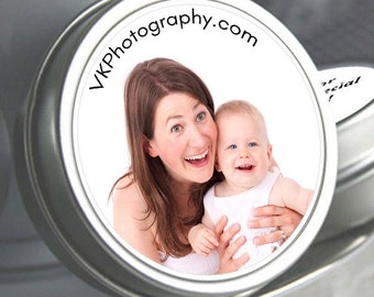 """12 Personalized Caption Style Business Mint Tins - Need a different quantity? Click on the """"choose total"""" tab to see all pricing"""
