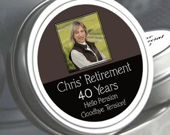 Retirement Mint Tins - RetireMints - Photo - Retirement Favors - Retirement Decor - Retirement Mints - Retired Mints