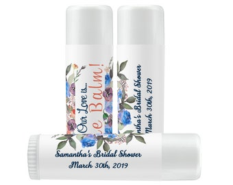 Lip Balm Labels - Personalized Lip Balm Labels - Bridal Shower Lip Balm labels - 1 Sheet of 12 Lip Balm Labels - Custom Lip Balm Labels