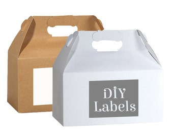 Personalized Box Labels -  Bag Labels - Wedding Favor Labels - Welcome Stickers - Box Stickers - DIY Labels - Your own artwork