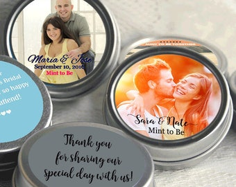 70 Personalized Mint Tins - Wedding Tin Mints - Mint To Be - Photo Wedding Mints - Personalized Photo - Wedding Decor - Photo Mint Tins