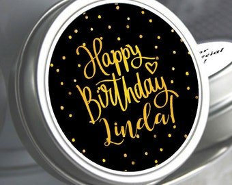 Black and Gold Birthday Favors - Birthday Party Favors - Birthday Favors - Birthday Decor - Personalized Favors -