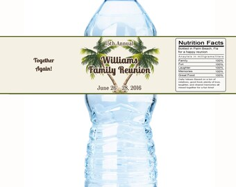 Family Reunion Water Bottle Labels, Family Reunion Favors,Reunion Favors, Family Tree, Reunion Decor, Reunion Party Favors, Beach Reunion