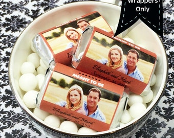 Personalized  Full Color Photo Hershey's Miniatures Chocolate Wrappers - Wedding Decor - Photo Wedding Favors - Wedding Candy Wrappers