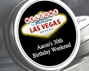 12 Welcome to Las Vegas Mint Tins - Las Vegas Sign Mint Tins - Fabulous Las Vegas Birthday Mint Tins - Birthday Decor