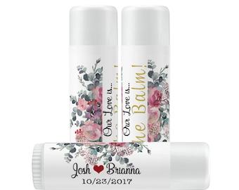 Lip Balm Labels - Personalized Lip Balm Labels - Bridal Shower Lip Balm labels - 1 Sheet of 12 Lip Balm Labels - Pastel Lip Balm Labels