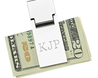 Spring Loaded Money Clip - Personalized Money Clip - Groomsman Gift - Best man Gift - Gifts for Dad - Engraved Money Clip