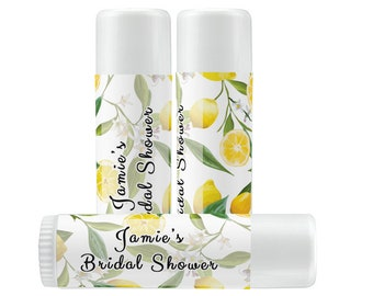 Lip Balm Labels - Personalized Lip Balm Labels - Our Love is the Balm Lip Balm labels - 1 Sheet of 12 Lip Balm Labels - Lemons