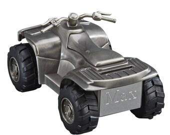 All Terrain Vehicle Bank -  Coin Bank - Personalized ATV Bank - Coin Bank Gift - Ring Bearer Gift - Personalized Bank - Engraved Bank