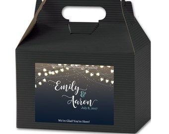Personalized Welcome Box Labels -  Wedding Welcome Bag Labels - Wedding Favor Labels - Welcome Stickers - Box Stickers