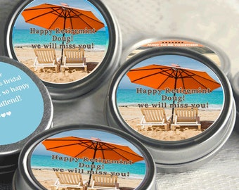 Retirement Mint Tins - RetireMints - Beach - Retirement Favors - Retirement Decor - Retirement Mints - Retired Mints - Beach Mints