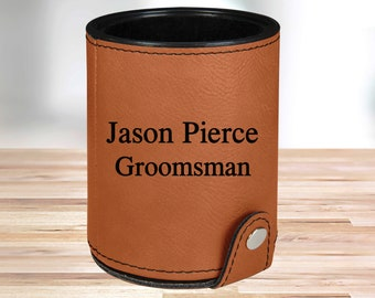 Personalized Leather Dice Cup | Rawhide |  Groomsmen Dice Cup | Groomsmen Gifts | Gifts for Dad  | Husband Gift | Gifts for Him