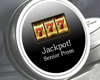 """12 Personalized Jackpot Lucky 7 Theme Mint Tin Prom Favors - Select the quantity you need below in the """"Pricing & Quantity"""" option tab"""