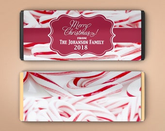 12 Large Personalized Christmas Hershey's Chocolate Wrappers - Full Color Candy Bar Wrappers - Large Candy Wrappers - Picture Wrappers