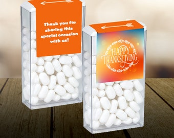 Thanksgiving Labels | Thanksgiving Tic Tac Labels | Thanksgiving Favor Ideas | Thanksgiving Tic Tacs | Set of 12