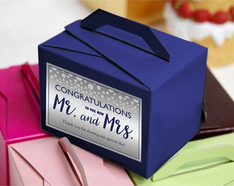 Personalized Welcome Box Labels -  30 Wedding Welcome Bag Labels - Wedding Favor Labels - Congratulations to the New Mr & Mrs