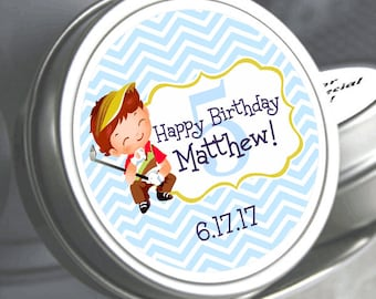"""12 Personalized Golf Birthday Mint Tin Favors - Select the quantity you need below in the """"Pricing & Quantity"""" option tab"""