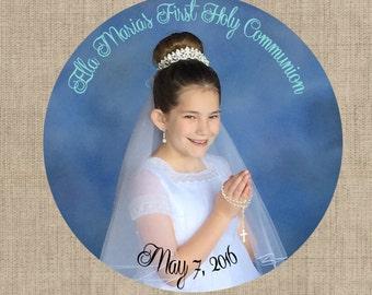 "Girls Communion 2"" Custom Stickers - Custom Order Add On"