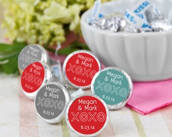 Hugs and Kisses Hershey Kiss® Stickers - Hershey Kiss Stickers Wedding - Candy Labels - Custom Labels - Wedding Favors - Candy Stickers
