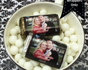 Picture Perfect Hershey's Photo Miniatures Chocolate Wrappers - Photo Mini Chocolate Wrappers - Wedding Decor - Photo Mini Wrappers
