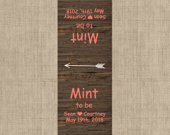 Mint To Be Tic Tac Label, 10 Mint To Be Tic Tac Stickers , Wedding, Bridal Shower Favors, Rustic Wedding Mint Favors, Wedding Decor