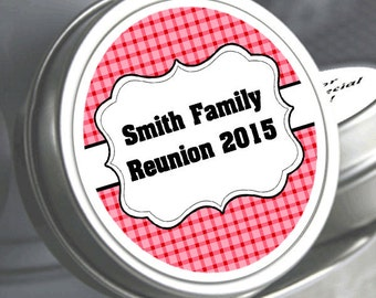 """12 Family Reunion Mint Tins - Picnic -- Select the quantity you need below in the """"Pricing & Quantity"""" option tab"""