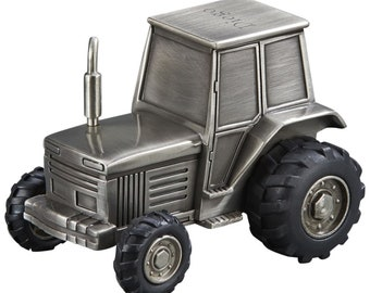 Personalized Tractor Bank -  Coin Bank - Personalized Tractor Shaped Bank - Coin Bank Gift - Personalized Bank - Engraved Bank
