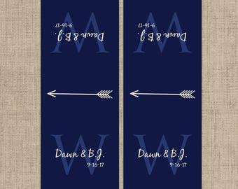 Monogram Tic Tac Label, Mint To Be Tic Tac Favors, Wedding, Bridal Shower Favors, Personalized Favor, Monogram Wedding, Wedding Decor
