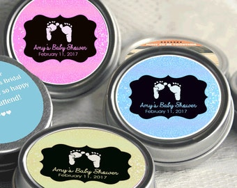 12 Baby Feet Baby Shower Favors - Party Favors - Baby Feet Birthday Favors - Baby Feet Mint Tins- Baby Shower Favors - Baby Shower Decor