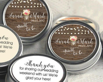 Personalized Mint to Be Tin Mints Wedding Favor - Mint to Be Favor - Bridal Shower Favor - Mint Favors - Fall Leaves - 200 Count
