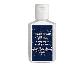 Purell hand sanitizer labels 2 oz. size bottle - Baby Shower Labels - Twinkle Twinkle Little Star - Baby Shower Decor - Sanitizer Labels
