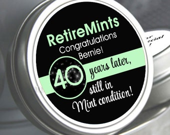 Retirement Mint Tins | Still in Mint Condition | Retire Mints | Retirement Favors | Retirement Party Decor | Set of 12
