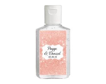 Purell hand sanitizer labels 2 oz. size bottle - Wedding Favors - Bridal Shower Hand Sanitizer Labels - Baby Shower  - Rose Gold