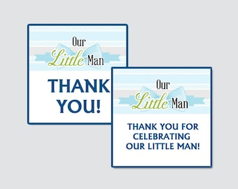 Our Little Man Baby Shower Printable Favor Tag - Our Little Man Baby Shower Favor Tags - Thank You Tag, Little Man Favor Tags