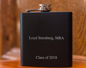 Personalized Flask |  Graduation Gift | Gift for Graduate | Funny Gift | Graduation Gift Idea |Gift for Boyfriend | Gift for Husband