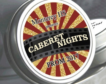 """12 Personalized Cabernet Night Prom Mint Tin Favors - Select the quantity you need below in the """"Pricing & Quantity"""" option tab"""