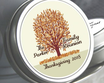 "96 Family Reunion Mint Tins - Autumn Tree - Select the quantity you need below in the ""Pricing & Quantity"" option tab"