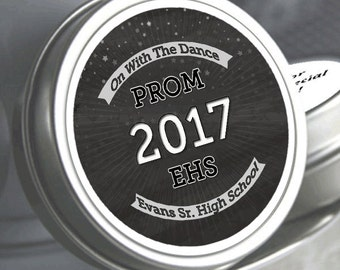 "12 Personalized Chalkboard Prom Mint Tin Favors - Select the quantity you need below in the ""Pricing & Quantity"" option tab"