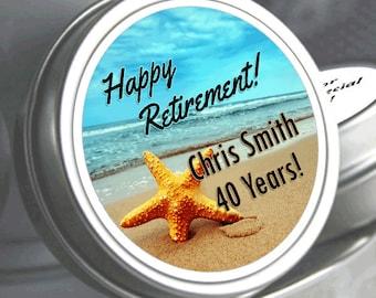 96Starfish Retirement Mint Tins - RetireMints - Starfish - Retirement Favors - Retirement Decor - Retirement Mints - Beach Themed Mints