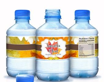 20 Autumn Wedding Water Bottle Labels - Autumn Wedding Decor- Fall Wedding Labels - Fall Wedding Decor - Autumn Wedding Stickers