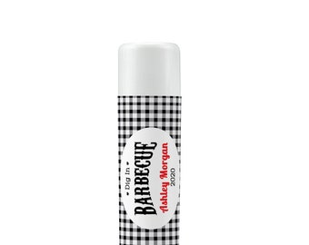 Lip Balm Labels - Personalized Lip Balm Labels - BBQ lip balm labels - 1 Sheet of 12 Lip Balm Labels - Custom Lip Balm Labels